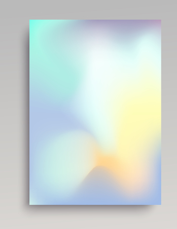 Smooth light gradient vertical background. Blue, white and yellow colors. 写真素材 - 97910715