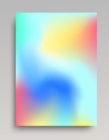 Colorful gradient background in vertical format. Cold blue, yellow and red colors. Backdrop for poster or web banner.