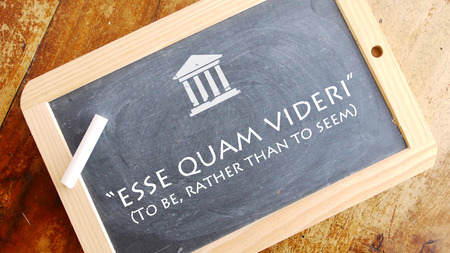 motto: Esse quam videri. A Latin phrase meaning To be, rather than to Seem. Appalachian State Universitys motto.