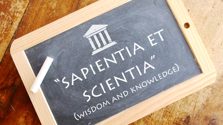 motto: Sapientia et Scientia. A Latin phrase meaning Wisdom and Knowledge. Caldwell College motto.