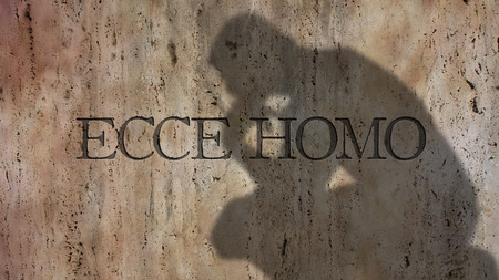 literally: Ecce Homo. A Latin phrase literally meaning Behold the man. Stock Photo