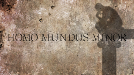 erudition: Homo mundus minor. A Latin phrase by Anicius Manlius Severinus Boethius That means a person is a world in miniature.