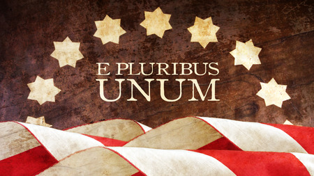 e pluribus unum: E Pluribus Unum. US motto. Stars and Stripes. Latin Phrase meaning Out of Many One