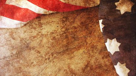 US Flag on Wood Background. Stars and Stripes Banco de Imagens