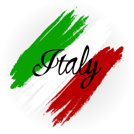 politicians: Vector illustration for the Day of Proclamation of the Republic of Italy. Abstract Flag of Italy on a white background.