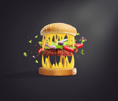 wild hamburger Imagens