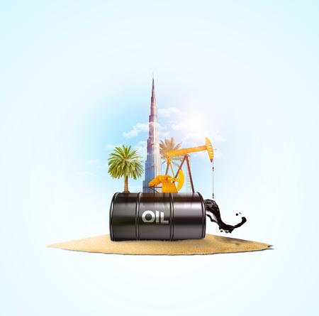 dubai petrol design - industry concept Imagens