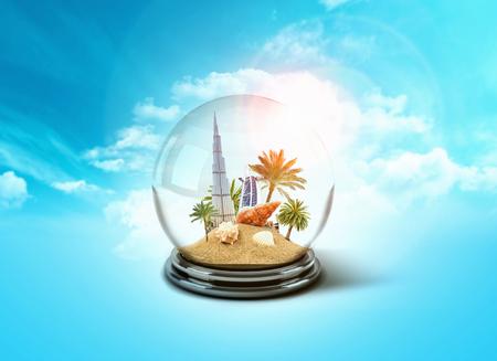 glass globe of Dubai - UAE travel concept