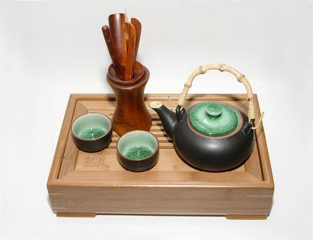 teaset: Teacup,teapot,tea table and teaset
