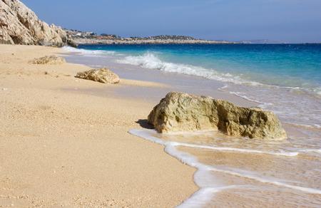 turkey beach: seascape in Turkey,mediterranean, kaputas beach Stock Photo