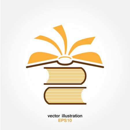 magazine icon: pile of several books on white background - vector icon