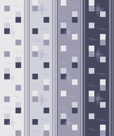 straight line: seamless vertical wallpaper with light and dark grey geometric elements - straight line and square, vector Illustration