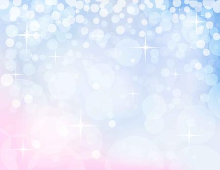 christmassy abstract lichtblauw-roze achtergrond, vector illustratie Stock Illustratie