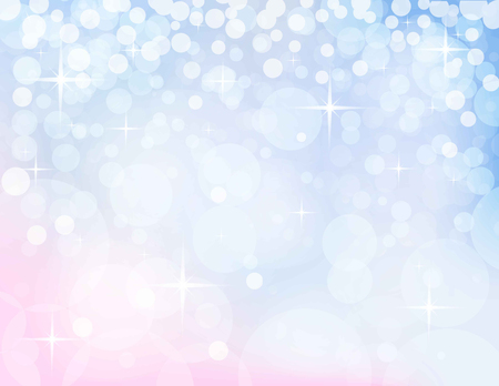 pink christmas: christmassy abstract  light blue-pink background, vector illustration