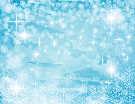 christmassy: christmassy abstract  turquoise-white background with stars,ice and snowflake, vector illustration