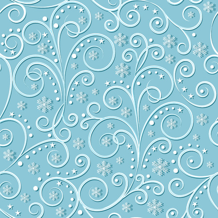 bluegreen: christmassy  vintage seamless pattern on light blue-green background, vector illustration