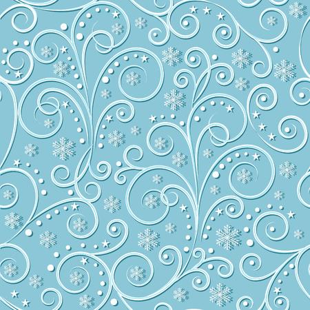 christmassy  vintage seamless pattern on light blue-green background, vector illustration