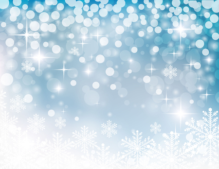 christmassy: christmassy abstract  turquoise-white background with stars and snowflake, vector illustration