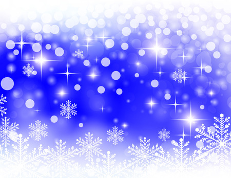 christmassy: christmassy abstract  bright blue background, vector illustration Illustration
