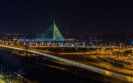 long exposure belgrade at night