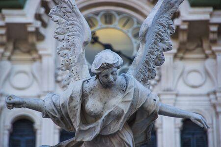 Statuse on Fontana dei Quattro Continenti, Trieste, Italy