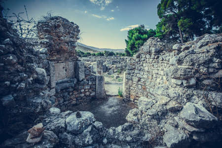 Ruins of the Sanctuary of Asclepius at Epidaurus, Greece.