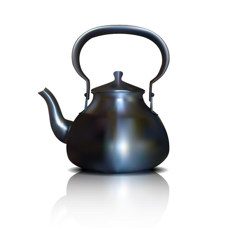 Kettle on a white background Illustration