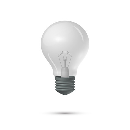 Light bulb on a white background Иллюстрация