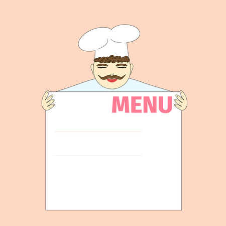 Cook shows the menu Vector