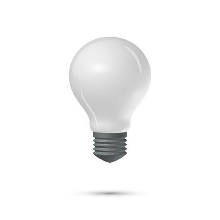 matt: Matt lightbulb on a white background Illustration