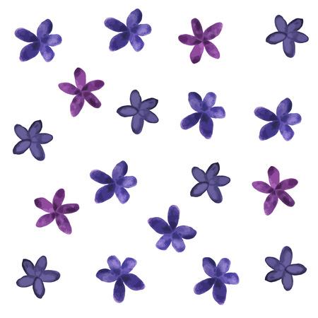 Handpaint Vector Acuarela Background.Bright Flores De Colores Rosa ...