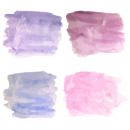 ombre: Watercolor abstract hand painted background. Blue and purple   spot. Background for banner, card, poster Illustration