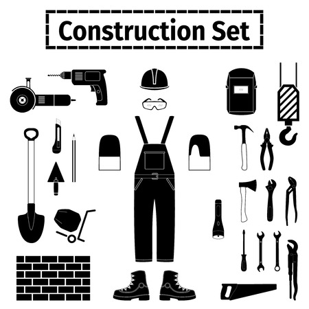 jenny: Construction icons set, vector illustration