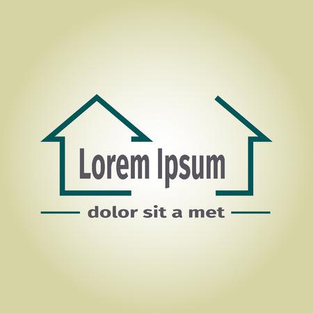 Real estate vector logo, vector illustration