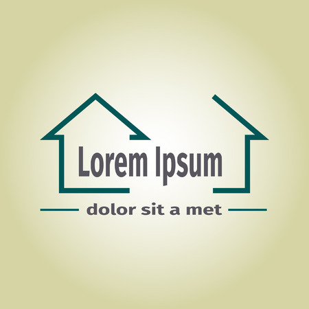 Immobilien-Vektor-Logo, Vektor-Illustration Illustration