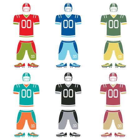 uniforme de futbol: Uniforme de f�tbol americano, ilustraci�n vectorial