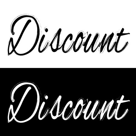discount banner: Black and white discount banner