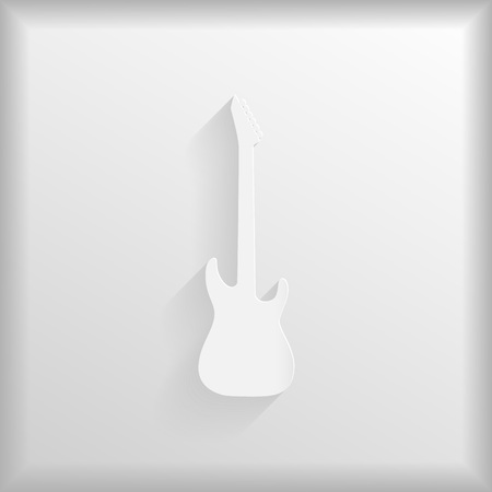 mediator: Paper guitar silhouette, vector illustration