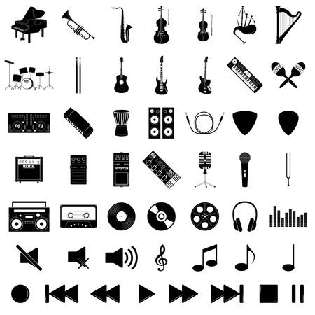 mediator: Musical instrument set, vector illustration Illustration