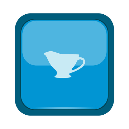 recipient: Sauce dish icon on a blue button Illustration