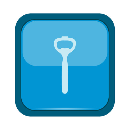 blue button: Opener icon on a blue button
