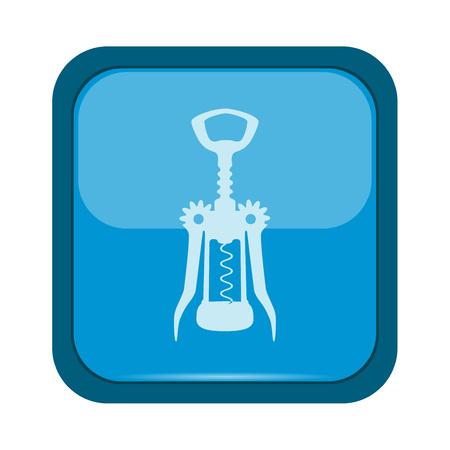 cork screw: Screw icon on a blue button