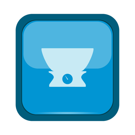 weigher: Weigher icon on a blue button Illustration