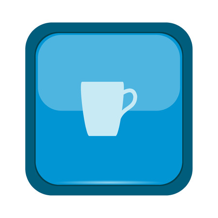 blue button: Cup icon on a blue button Illustration
