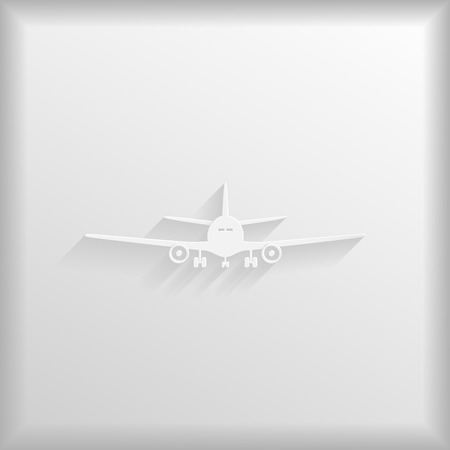 Paper aeroplane on a white background, vector illustration