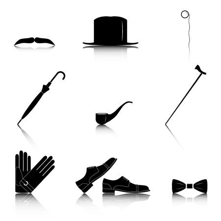 photo people: Gentleman icon set, vector illustration