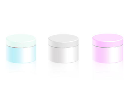 cosmetic bottle: Cosmetic bottle for cream, gel, powder, vector illustration