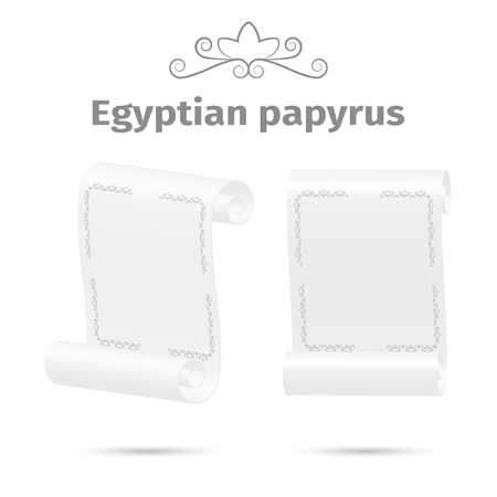 ancient papyrus: Ancient papyrus, white color, vector illustration
