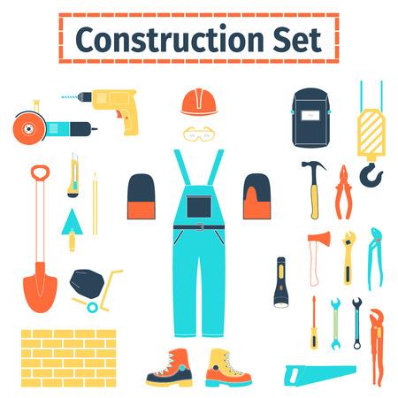 jenny: Construction icons set, illustration