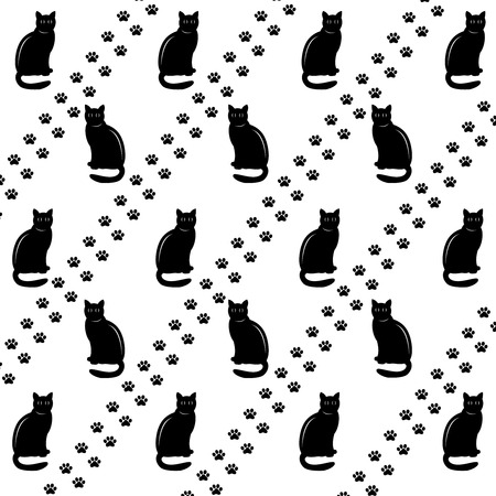 footsteps: Black cats and footsteps